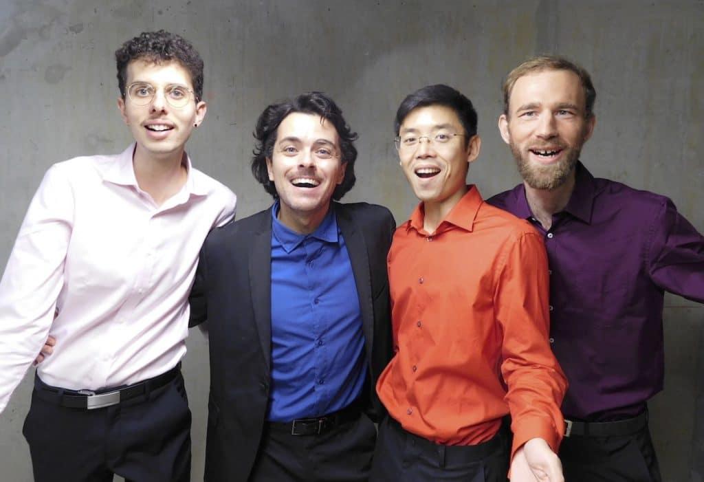 Photo des Petits Ducs : Jérémie, Nicolas, Billy et Pascal